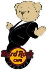 Hard Rock Cafe CARDIFF 2007 DANCING BEAR Series PIN Formal Black Suit HRC #38451