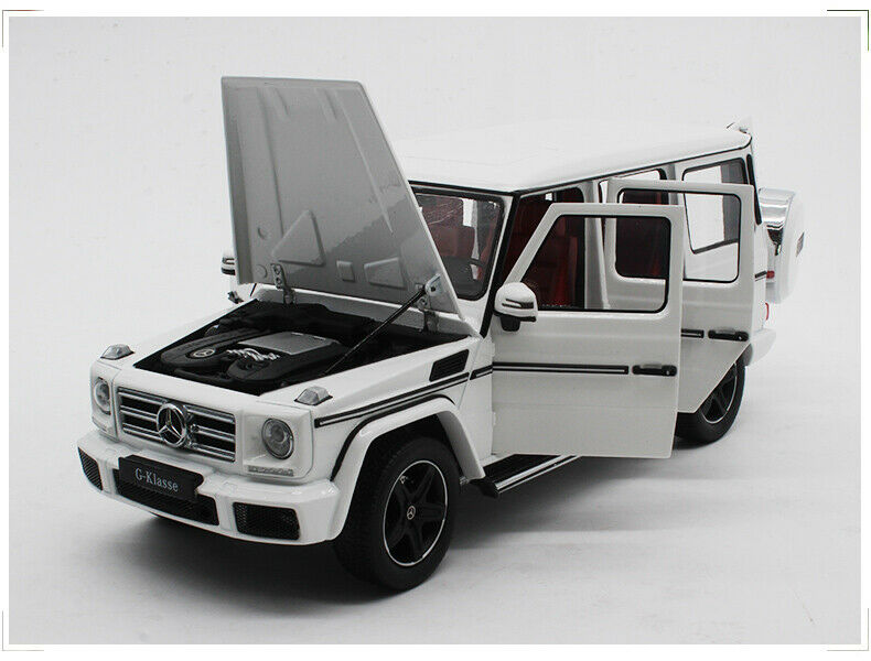 1 18 iScale I-Scale Mercedes Benz MB G-Klass G500 W463 SUV 4WD Polar bianca 2017