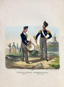 Prussia-Infanterie-Uniform-Tambour-Major-Iron-cross-Posen-Marching-Band
