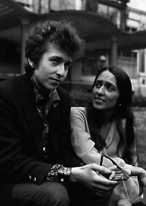 Art print POSTER / Canvas Bob Dylan and Joan Baez