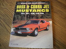 Mustang Boss Amp Cobra Jet Book 302 351 428 429 Pictures Amp Specs Brand New