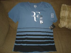 Nike s Nwt Rf T graphique v 777865 col et shirt Large S en Nike Nadal à 404 Federer tennis ggxqvS
