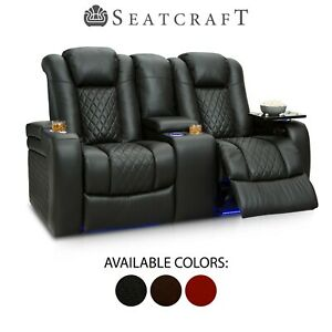Outstanding Details About Seatcraft Anthem Leather Home Theater Seating Double Recliner Loveseat Seat Forskolin Free Trial Chair Design Images Forskolin Free Trialorg
