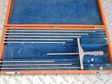 Brown Amp Sharpe 607 Micrometer Depth Gauge Gage With Rods Amp Box