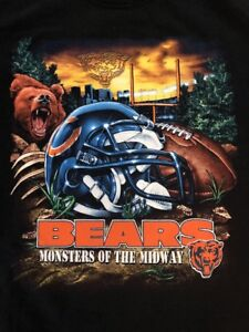 finest selection 9886c 52452 Details about Chicago Bears Monsters of the Midway Shirt Large Big Logo  Bears T Shirt NFL
