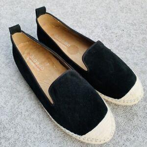 Blondo-Womens-Bella-Waterproof-Black-Suede-Slip-On-Comfort-Flats-Size-7