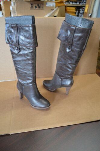 New Rockport Women/'s Dark Brown Heeled Knee High Leather Boots K53730
