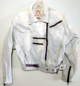 Details about Women's Vintage 1980's Whipp Blue Denim Jean Jacket S Zip Buckle Short Cotton