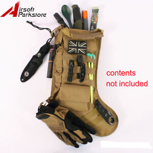 tactical christmas stocking with molle gear dump drop pouch storage bag tan - Best Christmas Stockings