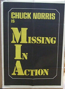 Image Is Loading Chuck Norris MISSING IN ACTION 1984 Original Movie