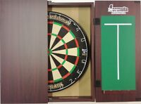 Pro Blade Dart Board Set Mahogany Cabinet & Micro Band Dart Board Man Cave Shop.