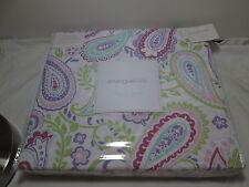 3 pc Envogue Paisley Floral Full/Queen Duvet Set ~ Purple, Green, Burgundy, Aqua