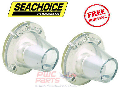 FMS-1-0-DP 2X BOAT 7-0232 Self Bailing Scupper Ball Valve Clear 2PACK