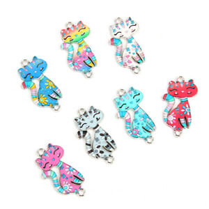 10Pcs-Colorful-Alloy-Cat-Beads-Connector-Charm-Fit-DIY-Jewelry-Making-Findings