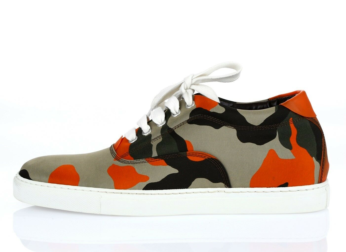 DSQUARED2 Military Green/Orange Fabric Fashion Scarpe da Ginnastica Ginnastica Ginnastica Sz. 40 NEW! a0e857