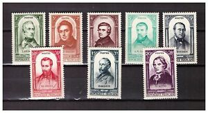 s23342-FRANCE-1948-MNH-Nuovi-Famous-persons-8v-Y-amp-T-795-802