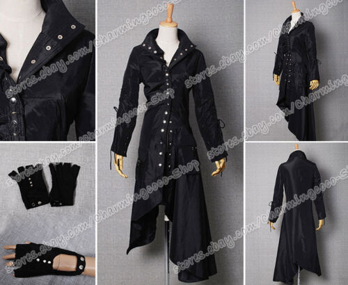 Harry Potter Cosplay Nymphadora Tonks Costume Black Coat Gloves High Quality