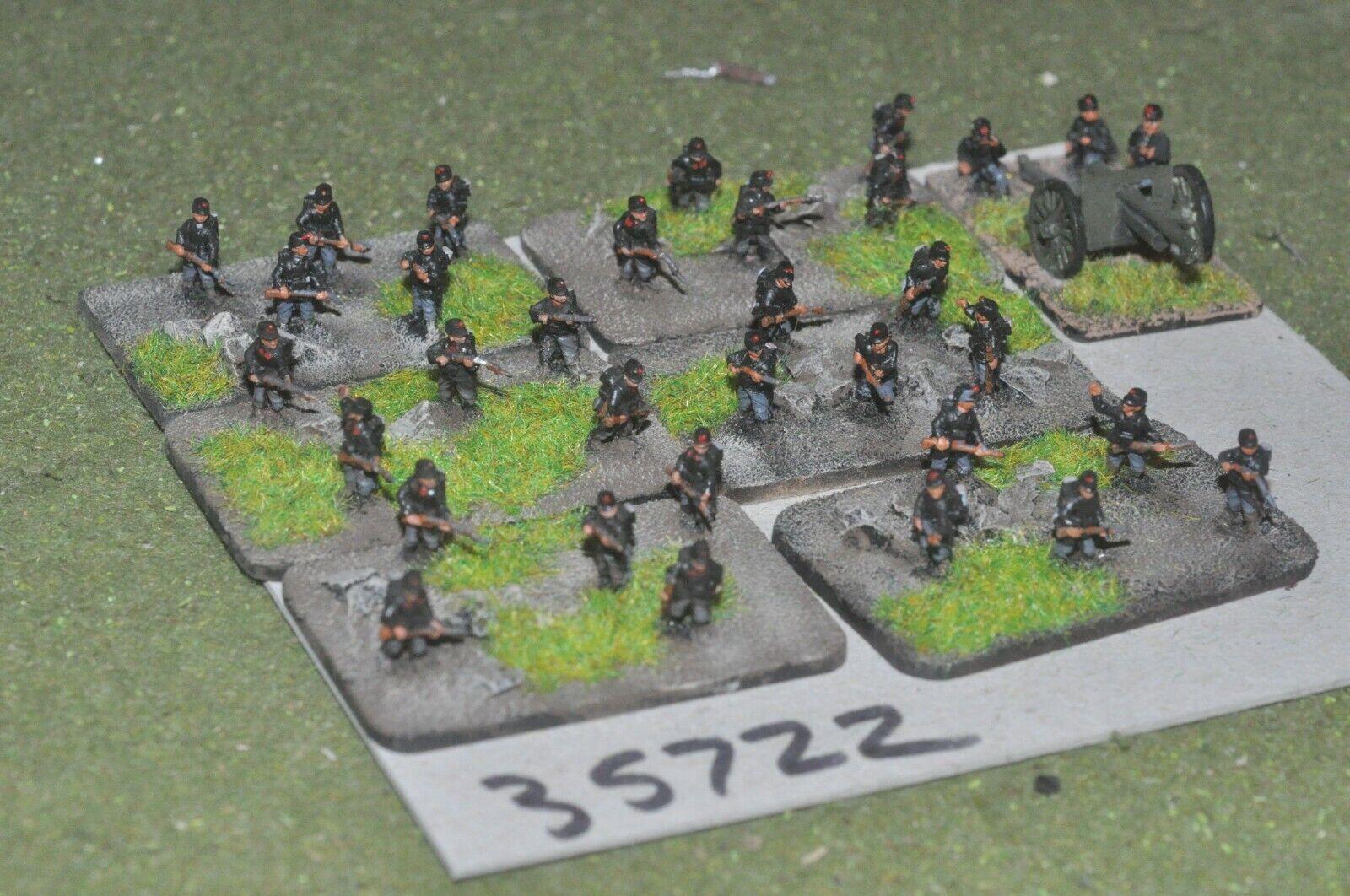 10mm WW1   belgian - battle group 30 figures & gun - inf (35722)
