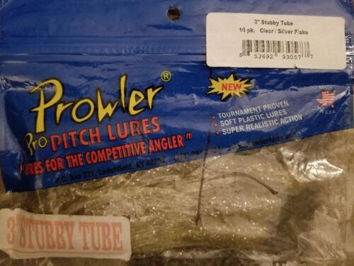 "Prowler 3/"" Stubby Tube 10pk Clear//Silver Flake"