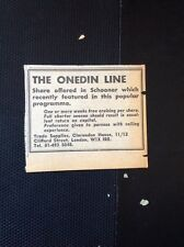 L1-4 Ephemera 1973 Advert The Onedin Line Shares Offered In Schooner Used