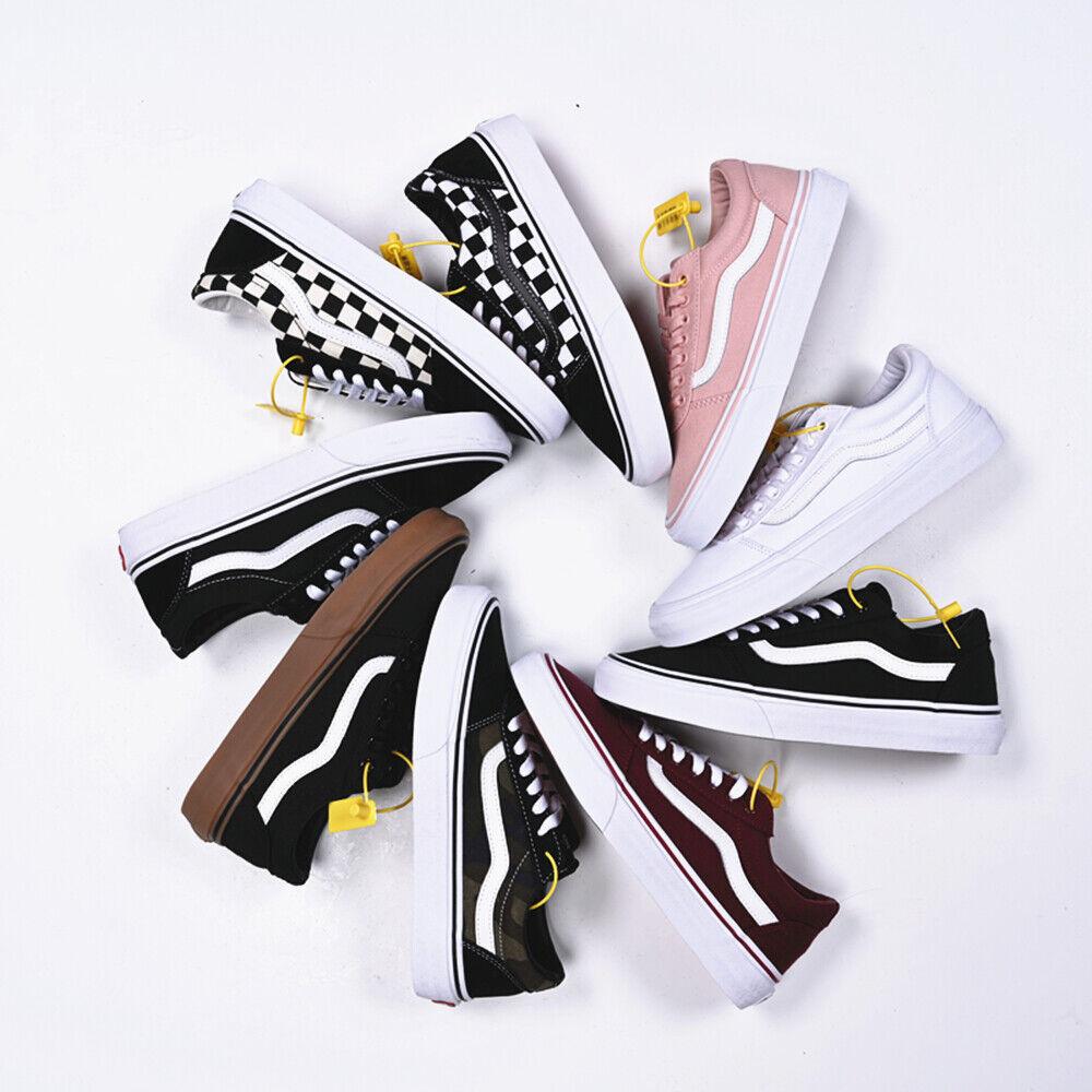 Neu 2020VANS Old Skool Niedrig Canvas Sneaker Schuhe Skateboard Unisex 35-44