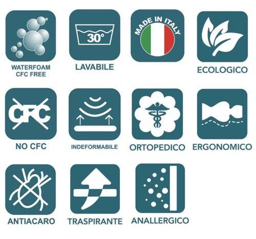 Cuscino Guanciale 100/% Fiocco di Cavo Vergine 100/% MADE IN ITALY Anallergico
