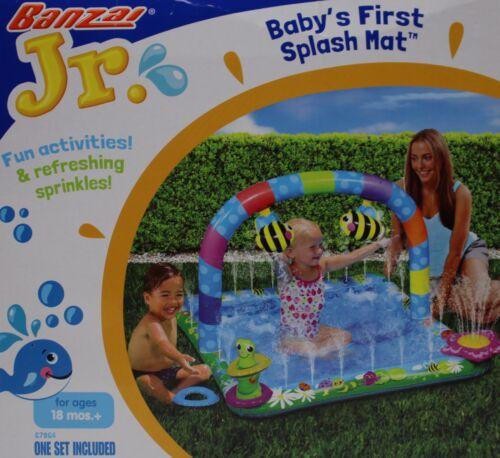Banzai Jr. Baby's First Splash Mat For Ages 18 months + 40x40 & 3 Toss Rings NIB