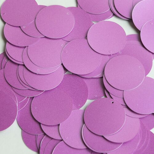 Round Sequin 24mm Orchid Pink Purple Opaque Satin Pearl Loose Couture Paillettes