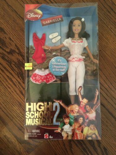 2007 Mattel Disney/'s High School Musical 2 Gabriella Doll Lifeguard M2936 NIB