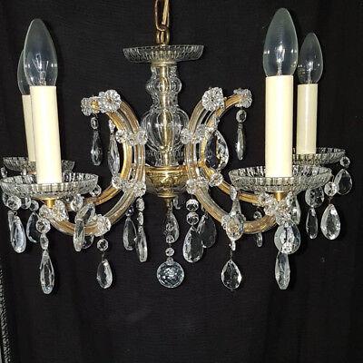Alte Marie Therese Lüster Kristall Deckenleuchte Reich Und PräChtig