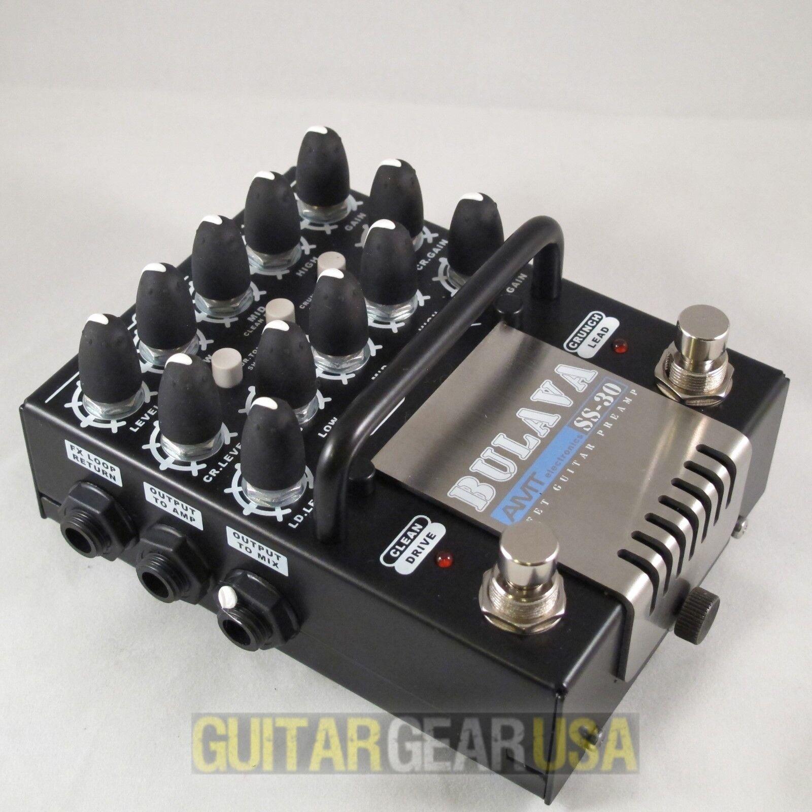 AMT ELECTRONICS GUITAR PEDAL PREAMP SS-30  BULAVA  3-channel JFET