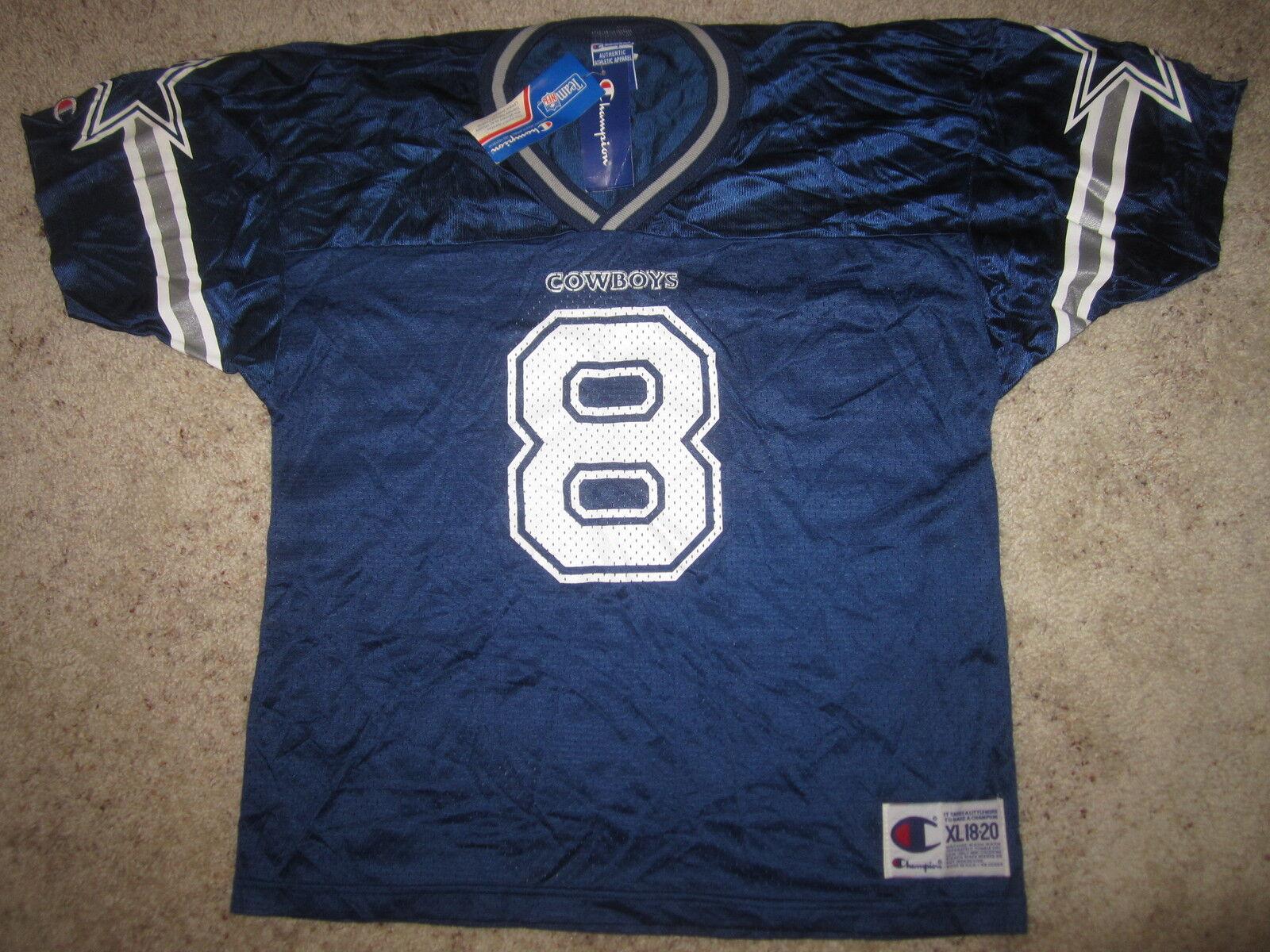 Troy Aikman Dallas Cowboys NFL Campeón Camiseta Youth XL 18-20 Nuevo Nwt