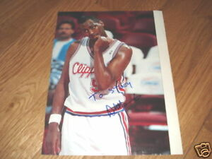 Danny Manning Signed NBA Clippers Basketball Photo 8x10