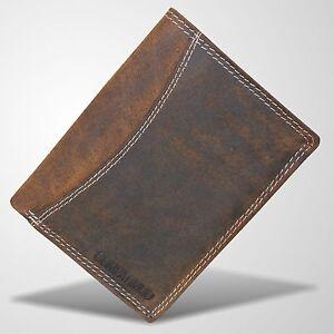 Bueffel-Leder-Geldboerse-Portemonnaie-Geldbeutel-Brieftasche-Boerse-Braun-2