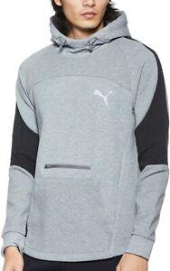 Détails sur Puma evostripe Homme Formation Sweat à capuche gris élégant Slim Gym Entraînement Sweat à capuche- afficher le titre d'origine