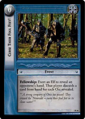 LoTR TCG FoTR Fellowship Of The Ring Curse Their Foul Feet FOIL 1R36