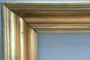 Antique-Fits-11-X-13-034-Lemon-Gold-Gilt-Picture-Frame-Wood-Gesso-Fine-Art-Country