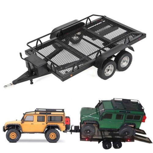 1//10 RC Wheel Type Metal Biaxial Plate Trailer 450*255mm Dual Axle Truck Trailer