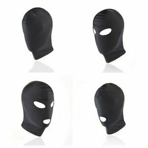 VARIOUS-Unisex-Stretch-Lycra-Breathable-Full-Head-Mask-Sensory-Depravation-Hood