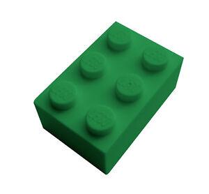 Lego 50 Stück Stein 2x3 in grün (3002) Neu grüne Steine City Basics Bausteine