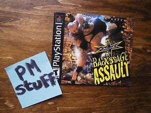 Version-francaise-du-livret-booklet-du-jeu-PSOne-WCW-Backstage-Assault