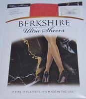 Berkshire Hosiery Ultra Sheers Sz 2 Red Control Top Sandalfoot Style 4415