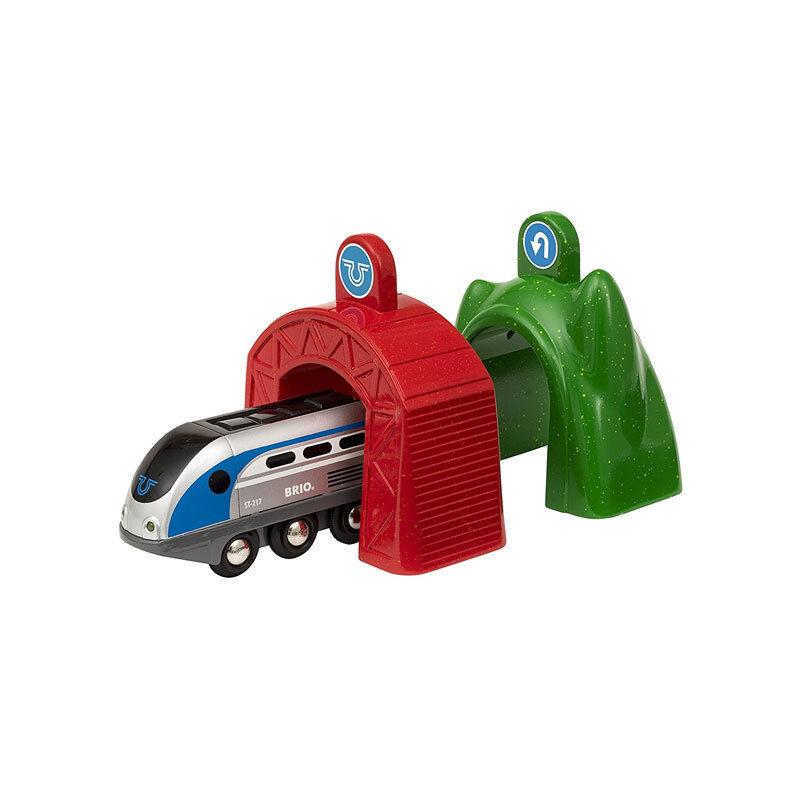 Brio 33834 Smart Tech Treno con Actiontunnels per Ferrovia Ferrovia Ferrovia in Legno Nuovo     5499fc