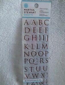 Martha Stewart Nom491851 Vintage Girl Clear STAMPS Half Trajan Alphabet