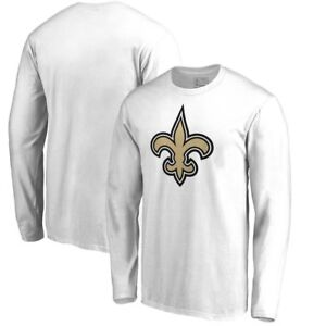 bf3c8a9ef New Orleans Saints Logo White Shirt Long Sleeve Unisex Football ...
