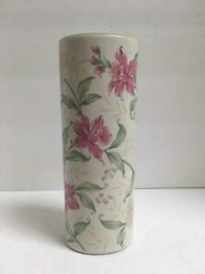 Prima Otagiri Pink and White Floral Vase, Fine Porcelain, Made in Japan