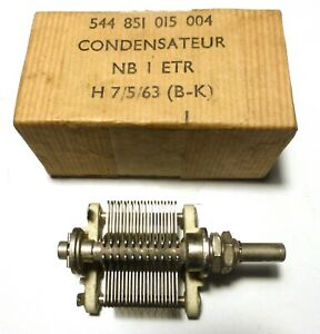 Condensateur-variable-150-pF-Steatite-NIB-diametre-axe-US-6-3-mm