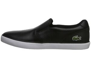 Lacoste-Jouer-Slip-319-1-Logo-Casual-Slip-On-Loafer-shoes-Sneakers-Black-White
