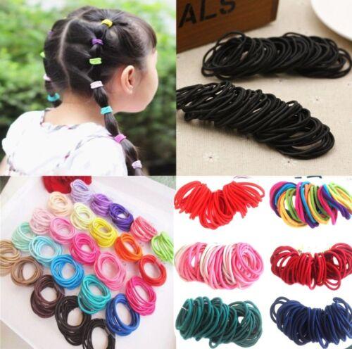 50 x Quality Girls Hair Elastics Bobbles Bands Ties School Ponios Thick Thin