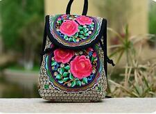 item 2 Red Rose Embroidered Women Mini Small Backpack Rucksack Daypack  Travel Purse -Red Rose Embroidered Women Mini Small Backpack Rucksack  Daypack Travel ... 07698d068dc68
